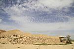 Israel, Negev desert, Tel Beer Sheba, the wall of the Biblical city of Beer Sheba, UNESCO World Heritage Site