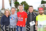 Lorna Keane Castleisland Pat O'Shea Iveragh AC, Ronan O'Callaghan Castleisland, David Heaslip Tralee and Dave McBride Castleisland who participated at the An Riocht/Kerry Autism fun run in Castleisland on Sunday   Copyright Kerry's Eye 2008
