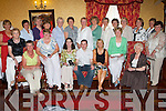 Prizegiving - Members of the Ballybegan Ladies Golf Society along with sponsor William Nolan of Billy Nolan Jewellers at their Dinner & Prizegiving night held in The Meadowlands Hotel on Saturday evening. Seated l/r Maureen Scannell, Kathleen Burrows, Rebecca McCarthy, 1st prize-winner Sharon Cahill, William Nolan, Catherine Mitchell Capt., Cathleen Houlihan and Ann Cox. Standing l/r Maureen A. Scannell, Anne O'Driscoll, Marian Gunning, Kay Maloney, Margaret Byrne, Eileen Baily, Gill Slye, Breda Walshe, Phyllis Mason, Mary O'Sullivan, Geraldine O'Connor, Mary O'Sullivan, Doreen Tobin and Maire Baily..