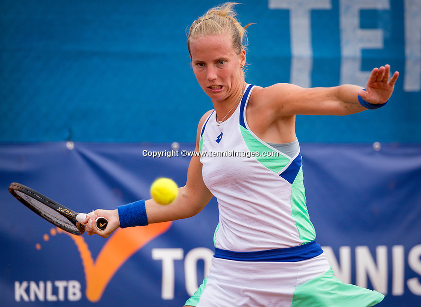 Amstelveen, Netherlands, 1 August 2020, NTC, National Tennis Center, National Tennis Championships,  Womans Final : Richel Hogenkamp (NED) i<br /> Photo: Henk Koster/tennisimages.com