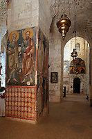 Israel,Jerusalem,St. Cross Monastery,Greek Orthodox Patriarchate,wall paintings,frescoes