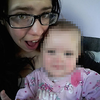 COPY BY TOM BEDFORD<br /> Pictured: Katrina Evemy with unknown baby<br /> Re: Dylan Hywel Harries is due to be sentenced at Swansea Crown Court, after a jury found him guilty of murdering 19 year old Katrina Evemy following an incident in Llanelli, Carmarthenshire, Wales, on the evening of Thursday the 13th April 2017.