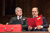 LONDON, ENGLAND - Yes, Prime Minister takes to the West End Stage in a limted run to 15 January 2011, with Henry Goodman as Sir Humphrey Appleby and David Haig as PM Jim Hacker, comedy by Antony Jay and Jonathan Lynn, directed by Jonathan Lynn