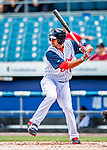 22 July 2018: Syracuse SkyChiefs infielder Drew Ward in action against the Louisville Bats at NBT Bank Stadium in Syracuse, NY. The Bats defeated the Chiefs 3-1 in AAA International League play. Mandatory Credit: Ed Wolfstein Photo *** RAW (NEF) Image File Available ***