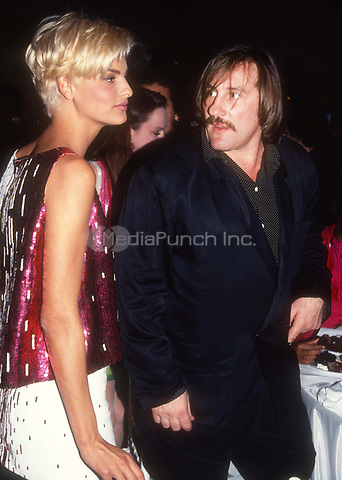 Linda Evangalista G&eacute;rard Depardieu 1992<br /> Photo By John Barrett/PHOTOlink.net / MediaPunch