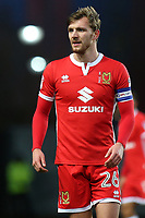 Alex Gilbey of MK Dons during Oxford United vs MK Dons, Sky Bet EFL League 1 Football at the Kassam Stadium on 1st January 2018