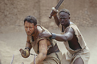 Gladiator (2000)<br /> Russell Crowe &amp; Djimon Hounsou<br /> *Filmstill - Editorial Use Only*<br /> CAP/KFS<br /> Image supplied by Capital Pictures