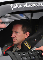 Feb 9, 2008; Daytona, FL, USA; Nascar Sprint Cup Series driver John Andretti during practice for the Daytona 500 at Daytona International Speedway. Mandatory Credit: Mark J. Rebilas-US PRESSWIRE