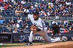 Masahiro Tanaka (Yankees), SEPTEMBER 13, 2015 - MLB : Masahiro Tanaka of the New York Yankees pitches in the third inning during the Major League Baseball game against the Toronto Blue Jays at Yankee Stadium in the Bronx, New York, United States. (Photo by Hiroaki Yamaguchi/AFLO)