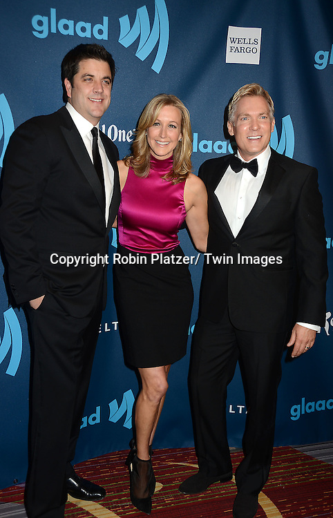 Lara Spencer, Josh Elliott and Sam Champion attends the 24th Annual GLAAD Media Awards on March 16, 2013 at The Marriott Marquis in New York City.