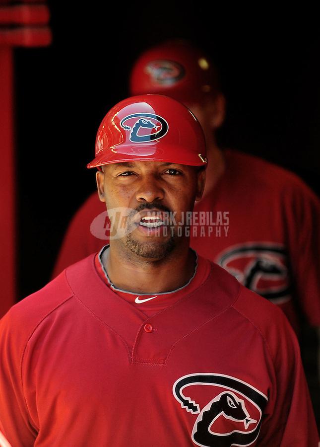 Apr. 3, 2010; Phoenix, AZ, USA; Arizona Diamondbacks third base coach Bo Porter against the Chicago Cubs at Chase Field. Mandatory Credit: Mark J. Rebilas-