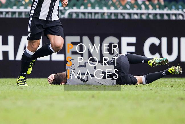 Juventus' player Roman Macek lies injured during the South China vs Juventus match of the AET International Challenge Cup on 30 July 2016 at Hong Kong Stadium, in Hong Kong, China.  Photo by Marcio Machado / Power Sport Images