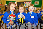 Milena Baran, Bronwin O'Keeffe who celebrated her birthday and Mollie O'Donovan pictured on their first day of school at presentation primary, Tralee on Thursday.