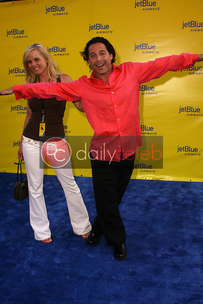 Jonathan Baker and Victoria Fuller<br /> at the launch of Jet Blue out of Burbank and 25th anniversary screening of &quot;Airplane&quot; at Warner Bros. Studios, Burbank, CA 06-13-05<br /> David Edwards/DailyCeleb.Com 818-249-4998