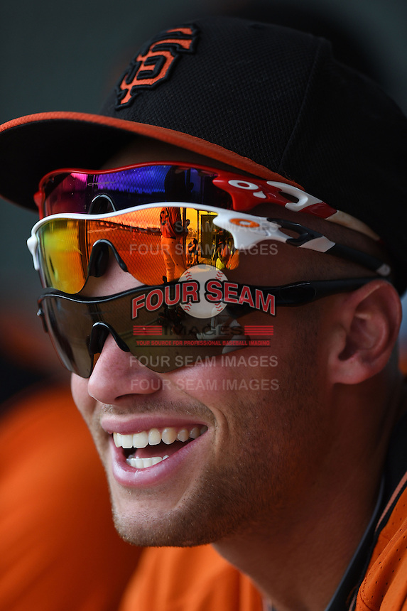 San Francisco Giants infielder Hunter Cole (23) during an Instructional League game against the SK Wyverns on October 17, 2014 at Giants Baseball Complex in Scottsdale, Arizona.  (Mike Janes/Four Seam Images)
