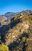 Italy, Alto Adige - Trentino (South Tyrol), Renon: Castle Wangen-Bellermont at Sarentino Valley, built between 1209 and 1237, today privately owned   Italien, Suedtirol (Alto Adige-Trentino), Ritten: Burg Wangen-Bellermont im Sarntal, erbaut zwischen 1209 und 1237, heute in Privatbesitz