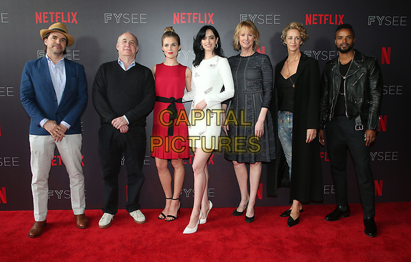 LOS ANGELES, CA - MAY 19: Jeph Loeb, Manuel Billeter, Rachel Taylor, Krysten Ritter, Melissa Rossenberg, Janet McTeer, Eka Darville, at NETFLIX FYC Event for Marvel's Jessica Jones at NEFTLIX FYSEE at Raleigh Studios in Los Angeles, California on May 19, 2018.  <br /> CAP/MPIFS<br /> &copy;MPIFS/Capital Pictures