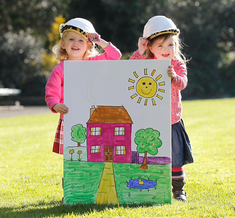 No Repro Fee.....Alex Campbell, age 3 from Ballinteer, Dublin (left) and Ava O'Dwyer, age 4 from Longford, pictured here in Merrion Squre, Dublin at the launch of the 7th annual RIAI Simon Open Door Weekend which takes place on the 7th & 8th of May 2011. In exchange for a EUR50 donation to the Simon Community of Ireland, the public can log onto www.simonopendoor.ie to book a one-hour consultation with an RIAI architect nationwide. Pic. Robbie Reynolds/CPR