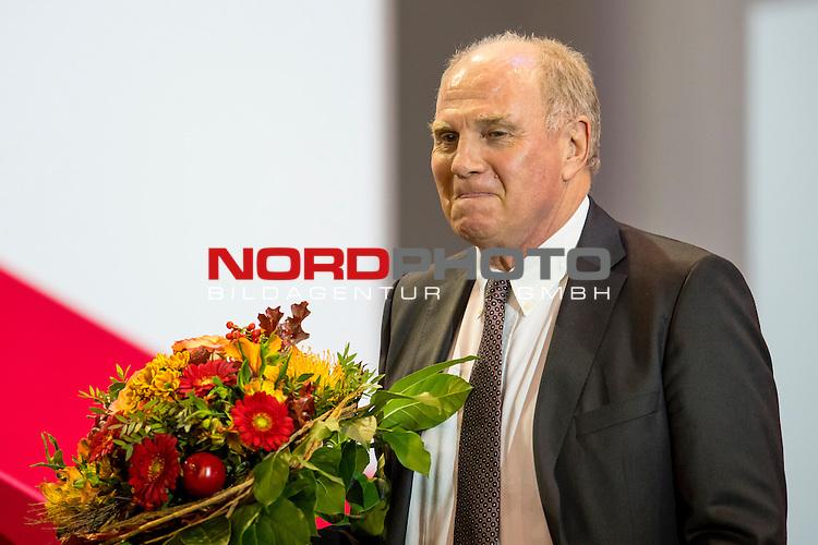 25.11.2016, Audi Dome, Muenchen, GER, FC Bayern Jahreshauptversammlung 2016, im Bild Uli Hoeness (FCB) <br /> <br /> Foto &copy; nordphoto / Straubmeier