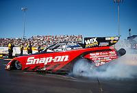 Jul 30, 2016; Sonoma, CA, USA; NHRA funny car driver Cruz Pedregon during qualifying for the Sonoma Nationals at Sonoma Raceway. Mandatory Credit: Mark J. Rebilas-USA TODAY Sports
