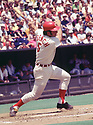 CIRCA 1971:  Johnny Bench #5, of the Cincinnati Reds, at bat during  a game from his 1971 season.  Johnny Bench played for 17 seasons, all with the Cincinnati Reds. Johnny Bench was a 14 -time All-Star, 2-time National League MVP and was inducted to the Baseball Hall of Fame in 1989. (Photo by: 1971  SportPics  )  Johnny Bench