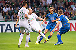10.08.2019, wohninvest Weserstadion, Bremen, GER, DFB-Pokal, 1. Runde, SV Atlas Delmenhorst vs SV Werder Bremen<br /> <br /> DFB REGULATIONS PROHIBIT ANY USE OF PHOTOGRAPHS AS IMAGE SEQUENCES AND/OR QUASI-VIDEO.<br /> <br /> im Bild / picture shows<br /> <br /> Marco Friedl (Werder Bremen #32)<br /> Davy Klaassen (Werder Bremen #30)<br /> Marco Priessner (SV Atlas Delmenhorst #09)<br /> Tom Schmidt (SV Atlas Delmenhorst #08)<br /> Foto © nordphoto / Kokenge
