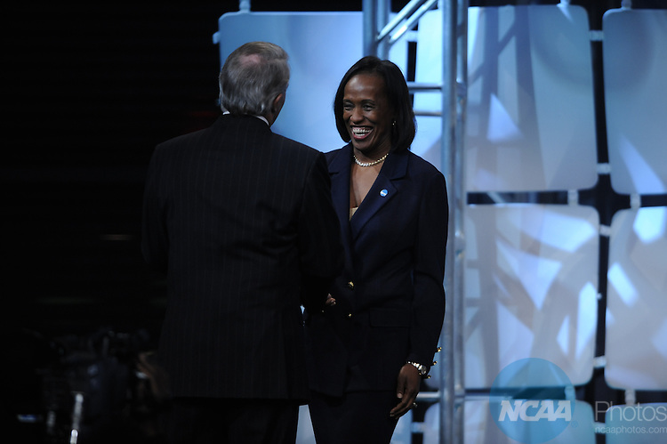 15 JAN 2010: Jackie Joyner-Kersee during the Honors Celebration at the 2010 NCAA Convention held at the Marriott Marquis and the Hyatt Regency in Atlanta, GA. Brett Wilhelm/NCAA Photos.