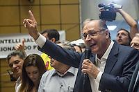 SAO PAULO, SP, 29.06.2014 - CONVENCAO PTB  - APOIO AECIO/ALCKMIN . O candidato do Partido da Social Democracia Brasileira (PSDB) a reeleição para o governo do estado de São Paulo, Geraldo Alckmin, durante convenção do Partido Trabalhista Brasileiro (PTB) na assembleia legislativa de São Paulo, na manhã deste domingo (29) . O PTB apoiará as candidaturas de Geraldo Alckmin ao governo de São Paulo e Aecio Neves para Presidencia da Republica. (Foto: Adriana Spaca/Brazil Photo Press)