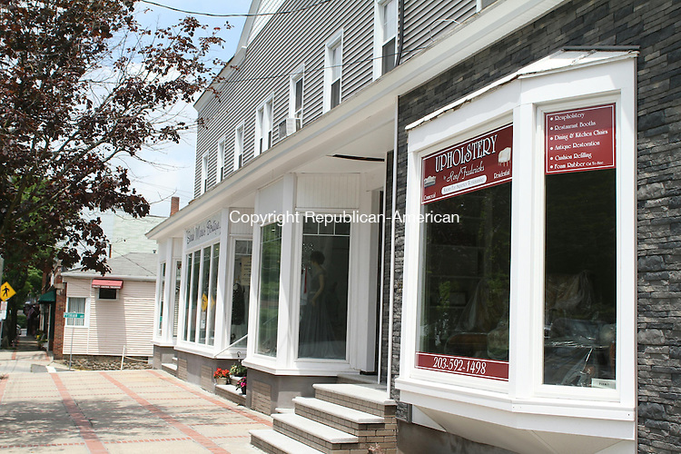 WATERTOWN, CT, 10 June 2015 - 061015LW04 - This building on Main St. in Watertown has three new retain shops and a new facade. Laraine Weschler Republican-American