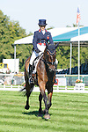 Polly Stockton riding Westwood Mariner during day 2 of the dressage phase at the 2012 Land Rover Burghley Horse Trials in Stamford, Lincolnshire,UK.