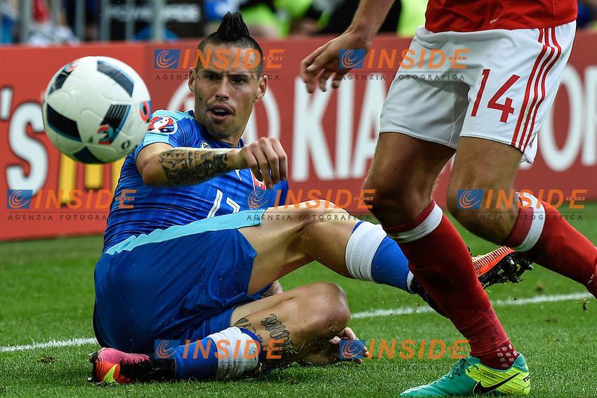 Marek HAMSIK Slovakia <br /> Bordeaux 11-06-2016 Stade de Brodeaux football Euro2016 Wales - Slovakia / Galles - Slovacchia Group Stage Group B. Foto Panoramic / Insidefoto