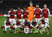 2nd November 2017, Emirates Stadium, London, England; UEFA Europa League group stage, Arsenal versus Red Star Belgrade; Arsenal's starting eleven player pose for a photo before kick off
