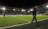 Watford manager Quinque Sanchez Flores before the Barclays Premier League match between Swansea City and Watford at the Liberty Stadium, Swansea on January 18 2016