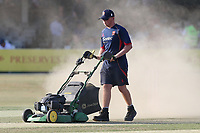 The dust rises as ground staff work on the pitch during Essex Eagles vs Sussex Sharks, Vitality Blast T20 Cricket at The Cloudfm County Ground on 4th July 2018