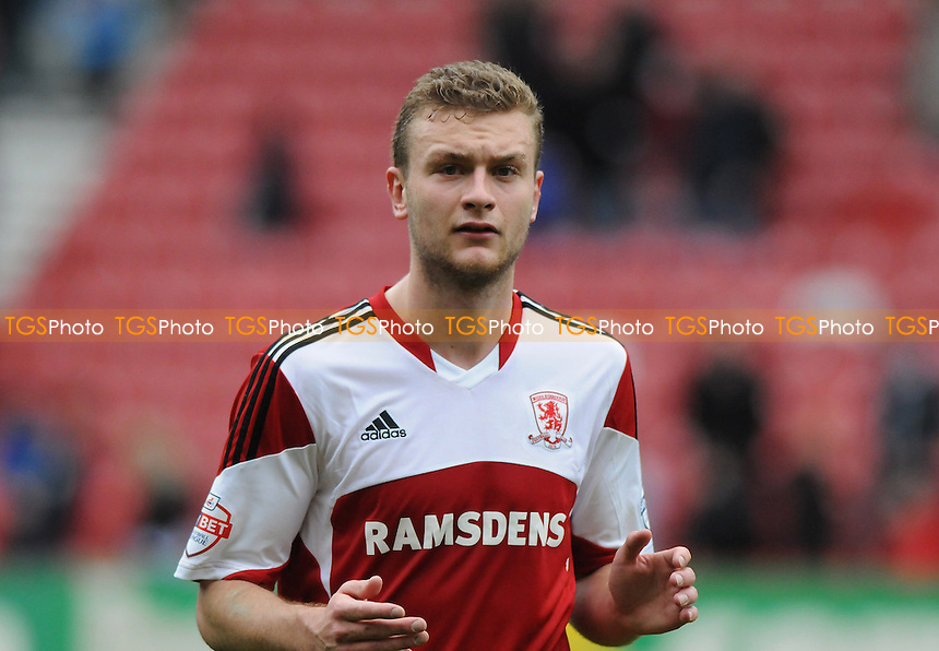 Ben Gibson of Middlesbrough - Middlesbrough vs Derby County - Sky Bet Championship Football at the Riverside Stadium, Middlesbrough - 05/04/14 - MANDATORY CREDIT: Steven White/TGSPHOTO - Self billing applies where appropriate - 0845 094 6026 - contact@tgsphoto.co.uk - NO UNPAID USE