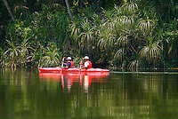 Kerala, India, April 2008. Exploring the waters of Salim Ali Bird Sanctuary formerly known as Thattekkad.  The backwaters of Kerala are reknowned for its rich culture. The most adventurous way to explore them is by kayak. We joined Kalypso Adventures for our adventure. Photo by Frits Meyst/Adventure4ever.com