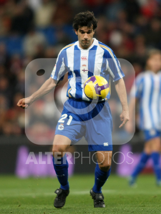 Deportivo de la Coruna's Juan Carlos Valeron during La Liga match.January 25 2009. (ALTERPHOTOS/Acero).