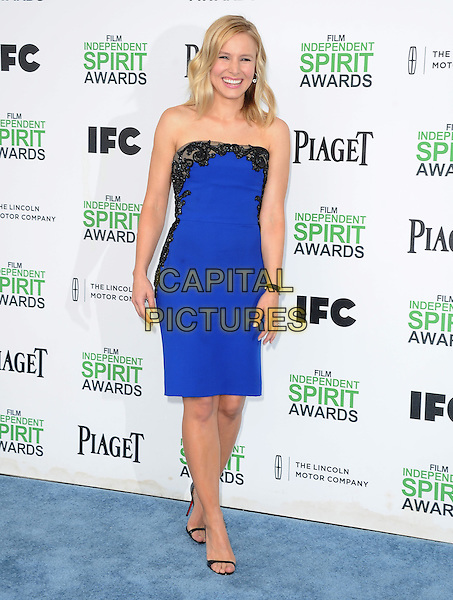SANTA MONICA, CA, MARCH 01: Kristen Bell at The 2014 Film Independent Spirit Awards held at Santa Monica Beach in Santa Monica, California, USA on March 1st, 2014.                                                                              <br /> CAP/DVS<br /> &copy;Debbie VanStory/Capital Pictures