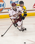 Bridget McCarthy (BC - 21), Andrea Olson (Merrimack - 20) - The number one seeded Boston College Eagles defeated the eight seeded Merrimack College Warriors 1-0 to sweep their Hockey East quarterfinal series on Friday, February 24, 2017, at Kelley Rink in Conte Forum in Chestnut Hill, Massachusetts.The number one seeded Boston College Eagles defeated the eight seeded Merrimack College Warriors 1-0 to sweep their Hockey East quarterfinal series on Friday, February 24, 2017, at Kelley Rink in Conte Forum in Chestnut Hill, Massachusetts.