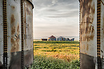 Abandoned grain storage tanks, R C Ranch, Panorama Hills, Carrizo Plain National Monument, San Luis Obispo County, Calif.