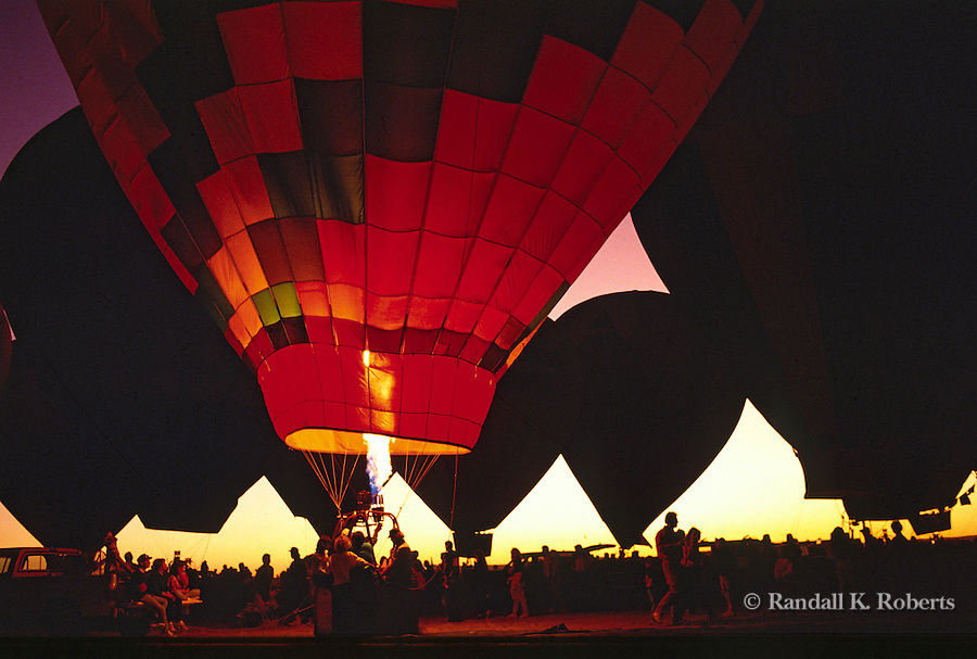 Burners light the night during the Kodak Albuquerque International Balloon Fiesta balloon glow event.
