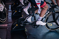 Team Trek-Segafredo warming up<br /> <br /> Stage 3 (Team Time Trial): Cholet > Cholet (35km)<br /> <br /> 105th Tour de France 2018<br /> ©kramon