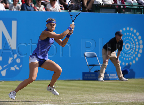 June 16th 2017, Nottingham, England;WTA Aegon Nottingham Open Tennis Tournament day 5;  Lucie Safarova of Czech Republic in action on centre court in the quarter final against Tsvetana Pironkova of Bulgaria