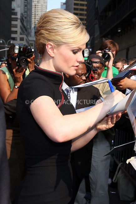 WWW.ACEPIXS.COM . . . . .  ....July 16 2009, New York City....Actress Anna Paquin outside the 'Late Show with David Letterman' on July 16 2009 in New York City....Please byline: AJ Sokalner - ACEPIXS.COM..... *** ***..Ace Pictures, Inc:  ..tel: (212) 243 8787..e-mail: info@acepixs.com..web: http://www.acepixs.com