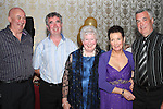 May Carpenter with her children Peter, David, Ina and Austin at her 80th birthday party in the Star and Crescent...Picture Jenny Matthews/Newsfile.ie