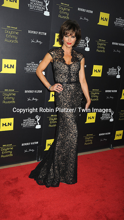 Lisa Rinna in Thea dresss attends the  39th Annual Daytime Emmy Awards on June 23, 2012 at the Beverly Hilton in Beverly Hills, California. The awards were broadcast on HLN.