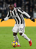9th December 2017, Allianz Stadium, Turin, Italy; Serie A football, Juventus versus Inter Milan; Kwadwo Asamoah on the ball