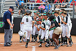 DENTON, TX MARCH 24: University of North Texas Mean Green Softball Game vs Louisiana Tech at Lovelace Field in Denton on March 24, 2018 in Denton, Texas. Rick Yeatts