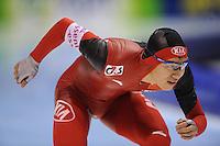 SCHAATSEN: HEERENVEEN: Thialf, World Cup, 03-12-11, 500m B, Nan Wang CHN, ©foto: Martin de Jong