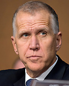 United States Senator Thom Tillis (Republican of North Carolina) listens as Judge Neil Gorsuch testifies before the US Senate Judiciary Committee on his nomination as Associate Justice of the US Supreme Court to replace the late Justice Antonin Scalia on Capitol Hill in Washington, DC on Monday, March 20, 2017.<br /> Credit: Ron Sachs / CNP<br /> (RESTRICTION: NO New York or New Jersey Newspapers or newspapers within a 75 mile radius of New York City)